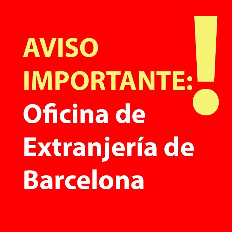 importante cita previa de extranjeria en barcelona