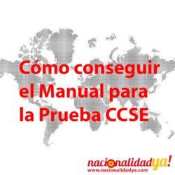 Como conseguir el Manual de preparación de la PRUEBA CCSE - NacionalidadYA.com