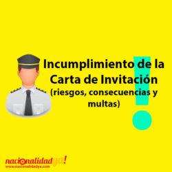 Incumplimiento de la Carta de invitación - NacionalidadYA.com